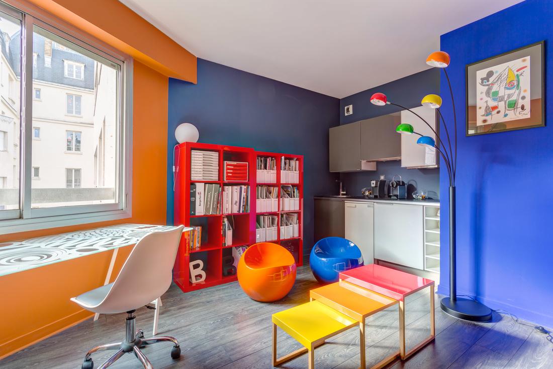 Rénovation de bureaux à Neuilly, par Béatrice Elisabeth, Décoratrice UFDI à Neuilly et Paris