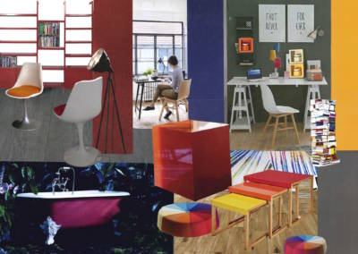 Décoration colorée de bureaux EAD à Neuilly - Planche tendance couleurs 2, par Béatrice Elisabeth, Décoratrice UFDI à Neuilly et Paris