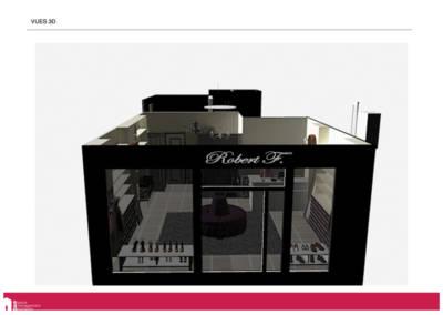 Book Déco boutique chaussures - Vue 3D de la façade, par Béatrice Elisabeth, Décoratrice UFDI à Neuilly 92