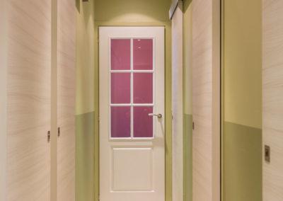 Décoration Appartement familial à Neuilly - Le couloir et la perspective rose, par Béatrice Elisabeth, Décoratrice UFDI à Neuilly et Paris