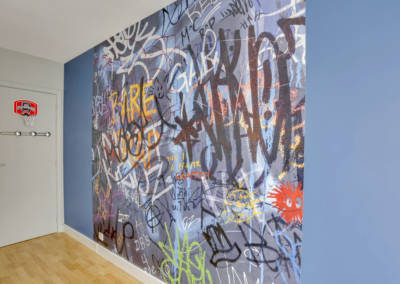 Décoration Chambre de garçon à Neuilly - Graf de rue, par Béatrice Elisabeth, Décoratrice UFDI à Neuilly et Paris