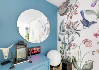 Décoration Maison à Marne la Coquette - La salon et son coim miroir, par Béatrice Elisabeth, Décoratrice UFDI à Neuilly et Paris