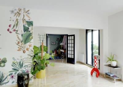 Décoration Maison à Marne la Coquette - le passage entre le salon et l'entrée, par Béatrice Elisabeth, Décoratrice UFDI à Neuilly et Paris