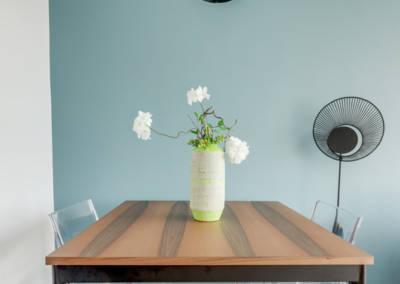 Décoration d'un appartement aux Buttes Chaumont - La salle à manger-table, par Béatrice Elisabeth, Décoratrice UFDI à Neuilly et Paris