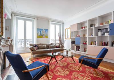 Décoration et suivi de chantier d'un appartement familial à Paris 17- Le Salon lumineux, par Béatrice Elisabeth, Décoratrice UFDI à Neuilly et Paris