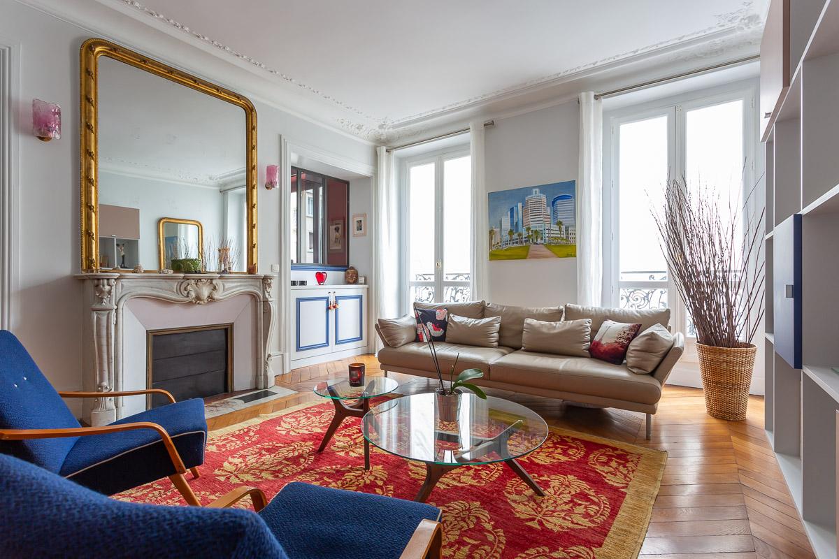 Décoration et suivi de chantier d'un appartement familial à Paris 17, par Béatrice Elisabeth, Décoratrice UFDI à Neuilly et Paris