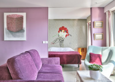 Rénovation appartement Paris 19 - Vue vers la chambre, par Béatrice Elisabeth, Décoratrice UFDI à Neuilly et Paris