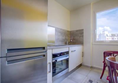 Rénovation appartement Paris 19ème - La cuisine - Détail de l'électroménager, par Béatrice Elisabeth, Décoratrice UFDI à Neuilly et Paris