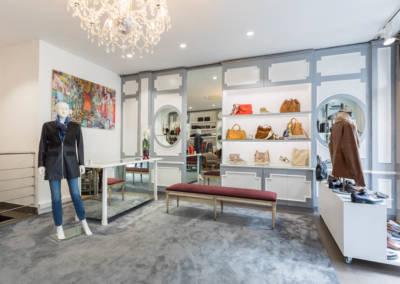 Décoration d'une boutique de chaussures à Issy les moulinaux par Béatrice Elisabeth, Décoratrice UFDI à Neuilly : Accueil