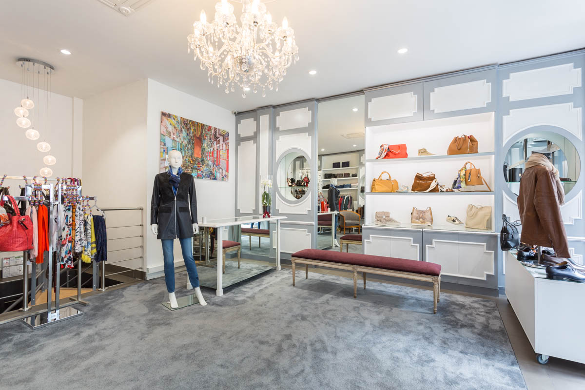 Décoration d'une boutique de chaussures à Issy les moulinaux par Béatrice Elisabeth, Décoratrice UFDI à Neuilly