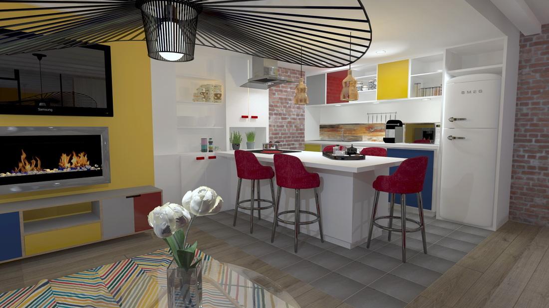 Appartement 2 pièces à Puteaux, par Béatrice Elisabeth, Décoratrice UFDI à Neuilly et Paris