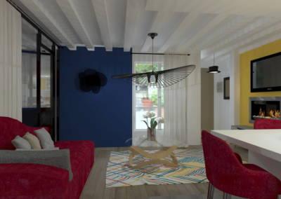 Rénovation deux pièces à Puteaux - le salon avec vue vers l'entrée, par Béatrice Elisabeth, Décoratrice UFDI à Neuilly et Paris