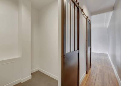 Rénovation appartement à Courbevoie - Le couloir, par Béatrice Elisabeth, Décoratrice UFDI à Neuilly et Paris