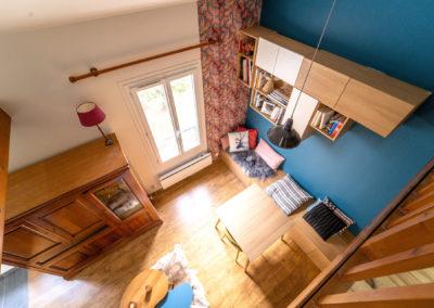 Décoration Appartement à Suresnes - Etage - Vue de la mezzanine, par Béatrice Elisabeth, Décoratrice UFDI à Neuilly et Paris