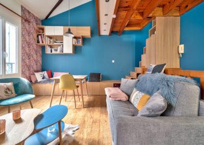 Décoration Appartement à Suresnes - Rez de Chaussée - Nouveau mobilier avec canapé et fauteuils, par Béatrice Elisabeth, Décoratrice UFDI à Neuilly et Paris