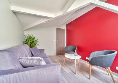 Espace de Formation Paris 12 - Le petit salon de travail et détente, par Béatrice Elisabeth, Décoratrice UFDI à Neuilly et Paris