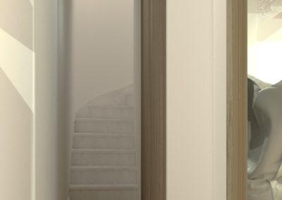 Espace de Formation Paris 12 - Simulation 3D du couloir, par Béatrice Elisabeth, Décoratrice UFDI à Neuilly et Paris