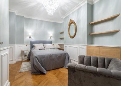 Appartement de style haussmannien à Paris 7ème - la chambre Invité, par Béatrice Elisabeth, Décoratrice UFDI à Neuilly et Paris