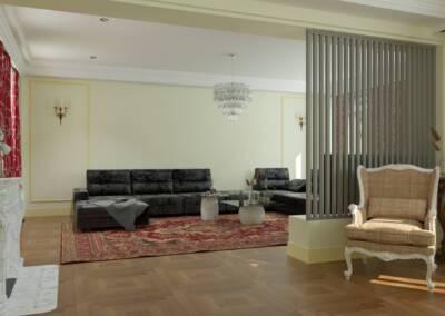 Projet d'un hôtel particulier à Neuilly sur Seine - Le passage vers le salon, par Béatrice Elisabeth, Décoratrice UFDI à Neuilly et Paris