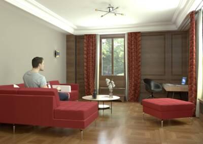Projet d'un hôtel particulier à Neuilly sur Seine - Le petit salon, par Béatrice Elisabeth, Décoratrice UFDI à Neuilly et Paris