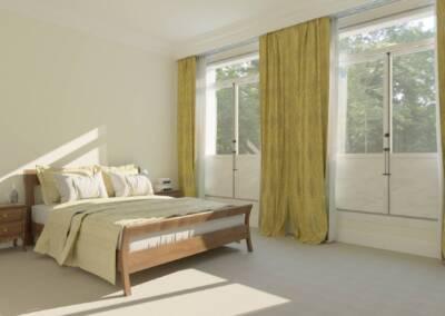 Projet d'un hôtel particulier à Neuilly sur Seine - Une autre chambre, par Béatrice Elisabeth, Décoratrice UFDI à Neuilly et Paris