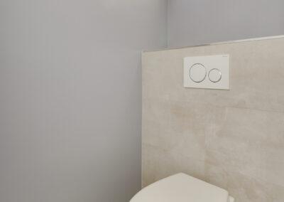 Agencement Appartement pour location Paris 17ème - Les toilettes suspendues, par Béatrice Elisabeth, Décoratrice UFDI à Neuilly et Paris