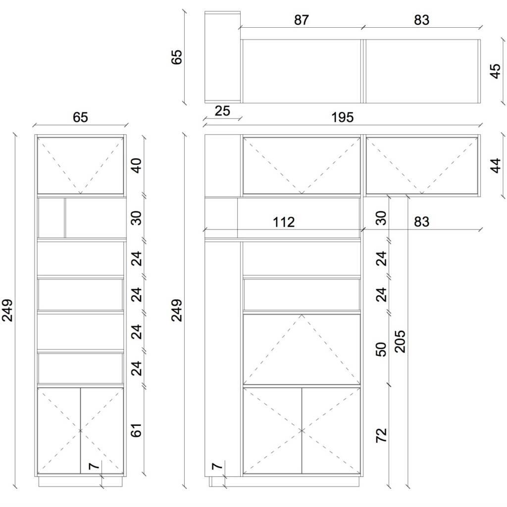Conception d'un agencement sur mesure à Asnières sur seine - Plans 2D d'un agencement pour petit salon, par Béatrice Elisabeth, Décoratrice UFDI à Neuilly et Paris