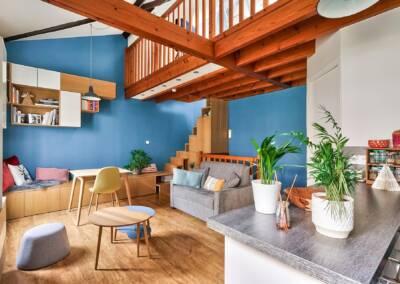 Décoration et réagencement d'un appartement à suresnes - le coin cuisine, par Béatrice Elisabeth, Architecte d'intérieur UFDI à Neuilly et Paris