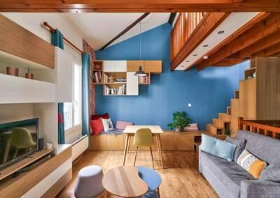 Décoration et réagencement d'un appartement à suresnes - perspective globale, par Béatrice Elisabeth, Architecte d'intérieur UFDI à Neuilly et Paris